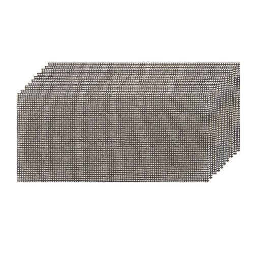 10 Pack Silverline 575602 Hook & Loop Mesh Sanding Sheets 93mmx190mm 80 Grit